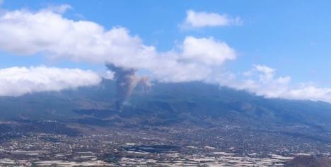 Vulkanutbrottet startade på eftermiddagen 19 september på La Palma, samma ö där den senaste vulkanen i Spanien uppstod 1971. Foto: 112-Canarias