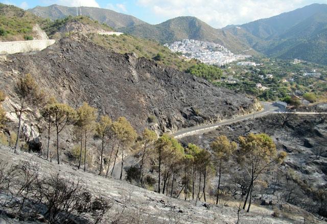 Storbranden 2012 sträckte sig från Coín till Marbella och Ojén.