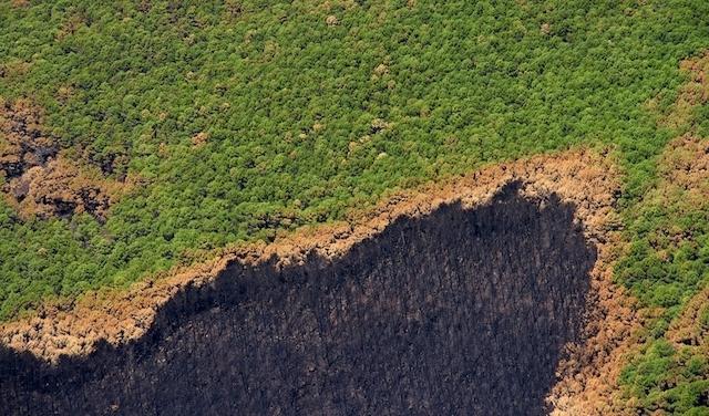 Drygt en månad efter storbranden finns det fortfarande glöd i underjorden.