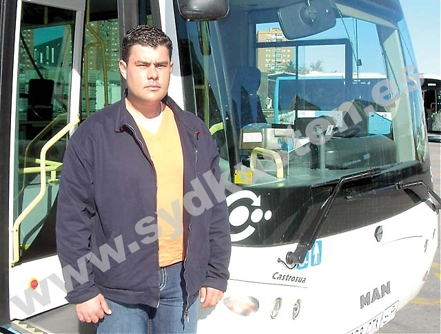 """""""Jobbet som busschaufför är ett otacksamt jobb"""", säger Gerardo Sánchez, som trots allt gillar sitt yrke och är en varm förespråkare för kollektivtrafiken."""