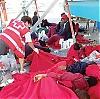 Tusentals afrikanska flyktingar går varje år i land längs med de spanska kusterna, många av dem i Barbate, Cádiz. Foto: Röda Korset Barbate