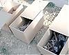 Kvarlevorna efter offren grävs fram och förvaras i individuella lådor.