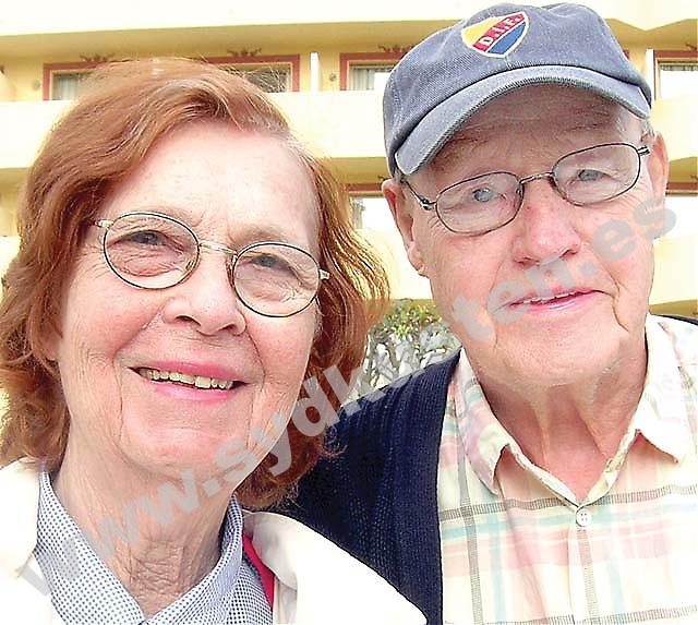 """Djurgårdshjälten  John """"Jompa"""" Eriksson fyllde 80 år i mars. Födelsedagen firade han i lugn och ro med hustrun Solveig Eriksson Meyer i Fuengirola."""