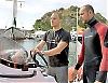 """Claudio Valtz och Fran Kucker är dykinstruktörer på Club Buceo La Herradura. """"Jag är egentligen arkitekt, men bytte kontoret mot havet efter två år."""" Foto: Lena Heubusch"""
