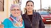 """Najat Sahli och Zahra Kasmi är marockaner som bor i Málaga och som ska resa över sundet i sommar för att hälsa på familjen på andra sidan. """"Det är jobbigt i värmen med så mycket folk och långa väntetider, men det är värt det för att du ska få se din familj"""", säger de. Foto: Carin Osvaldsson"""