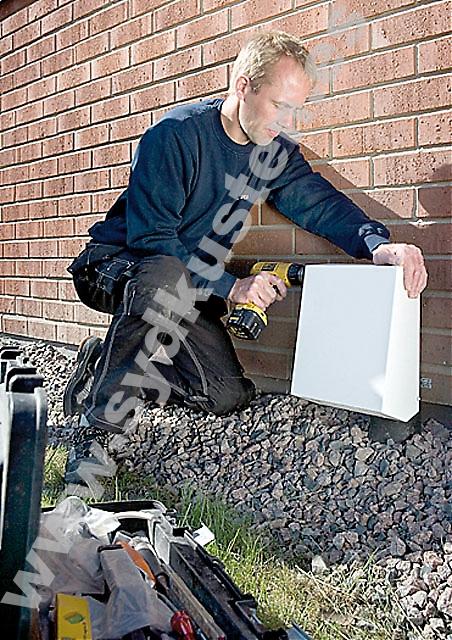 Med små åtgärder som bara tar ett par dagar sanerar Radea hem mot radon. Foto: Radea