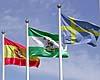Den svenska flaggan vajade högt på Costa Ballena Golf, vid sidan av den spanska och andalusiska fanan.