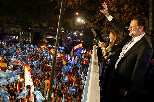 TREDJE GÅNGEN GILLT  Efter två raka förluster vann slutligen Mariano Rajoy valet 20 november och Partido Popular noterade sitt bästa resultat någonsin, med bred egen majoritet. Foto: PP