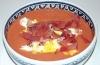 Mer trögflytande gazpacho serveras med exempelvis kokt ägg och skinka.