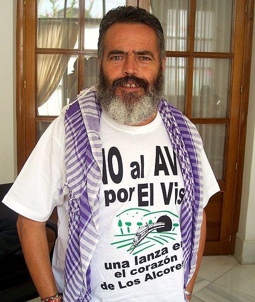 José Manuel Sánchez Gordillo är borgmästare i kommunistkommunen Marinaleda och intervjuades av Sydkusten 2008.