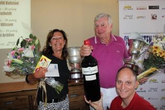 Berit Erixon vann finalen i A-gruppen för andra året i rad, medan maken Paul med segern i B-gruppen är den förste att vinna tre finaler i Sydkusten Trophy.
